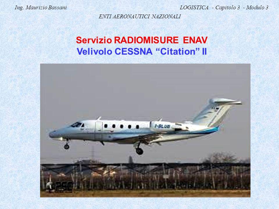 Servizio RADIOMISURE ENAV Velivolo CESSNA Citation II
