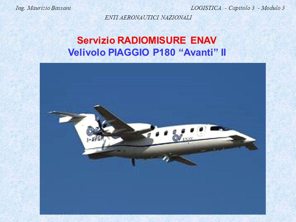 Servizio RADIOMISURE ENAV Velivolo PIAGGIO P180 Avanti II