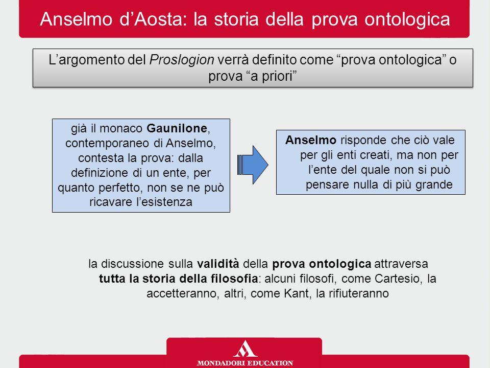 Anselmo d'Aosta: la storia della prova ontologica
