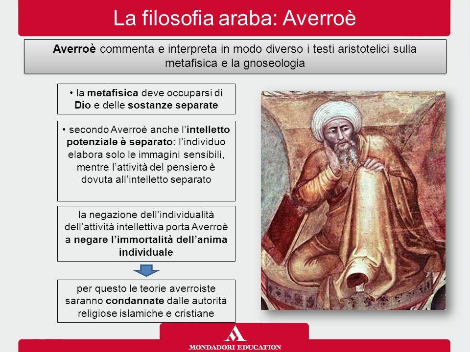 La filosofia araba: Averroè
