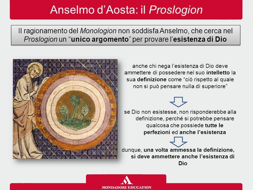 Anselmo d'Aosta: il Proslogion