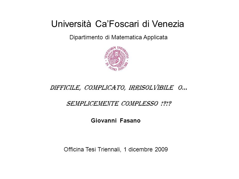 Università Ca'Foscari di Venezia