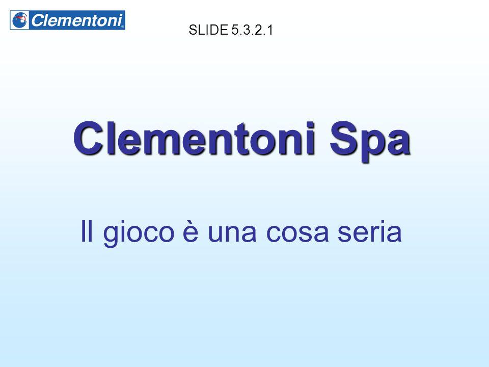 Clementoni Spa Il gioco è una cosa seria