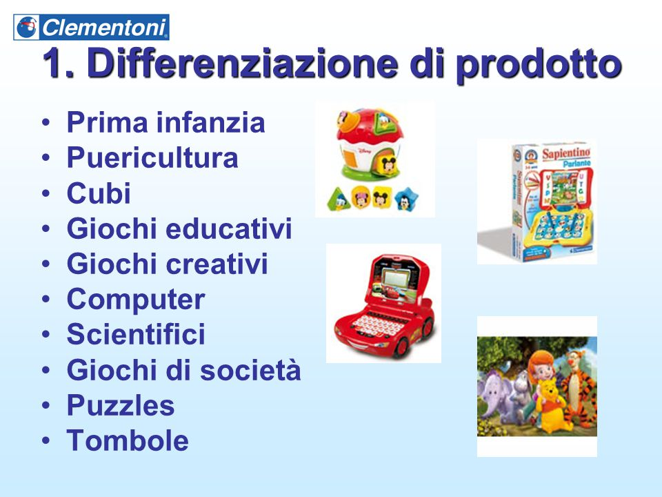 1. Differenziazione di prodotto
