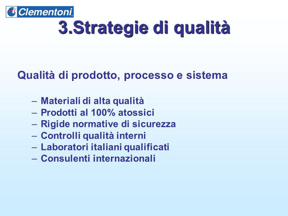 3.Strategie di qualità Qualità di prodotto, processo e sistema