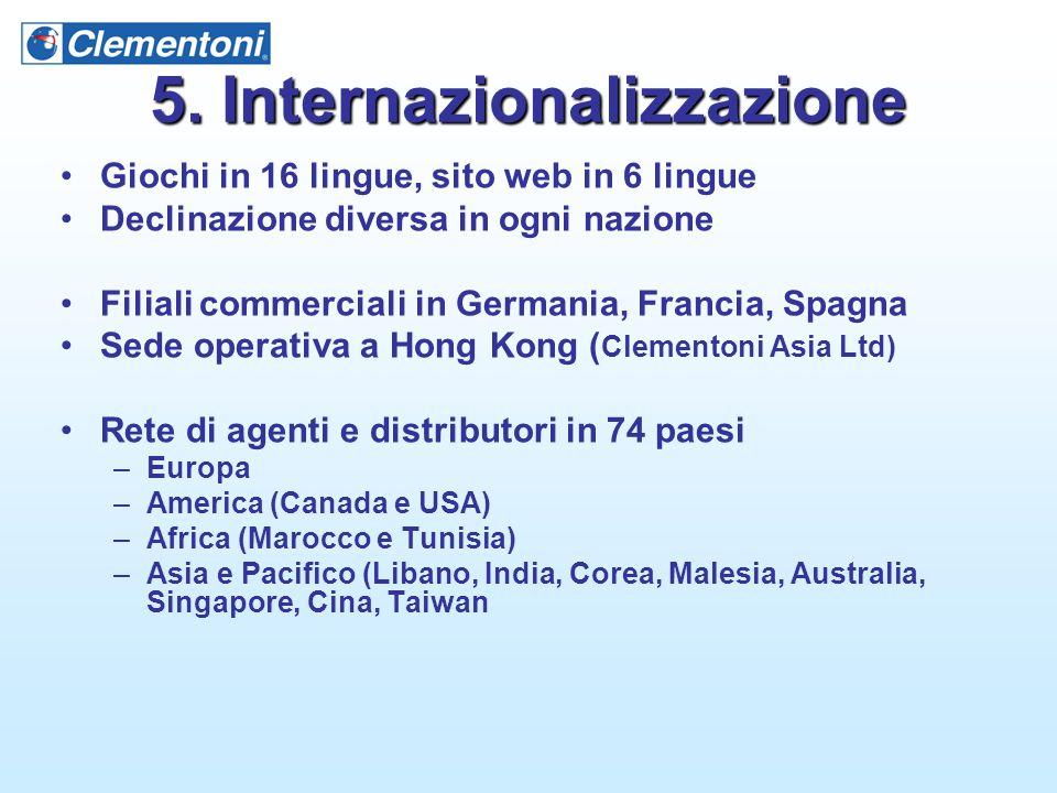 5. Internazionalizzazione