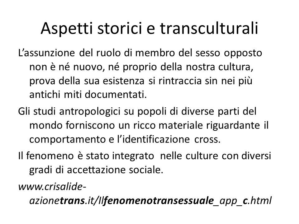 Aspetti storici e transculturali