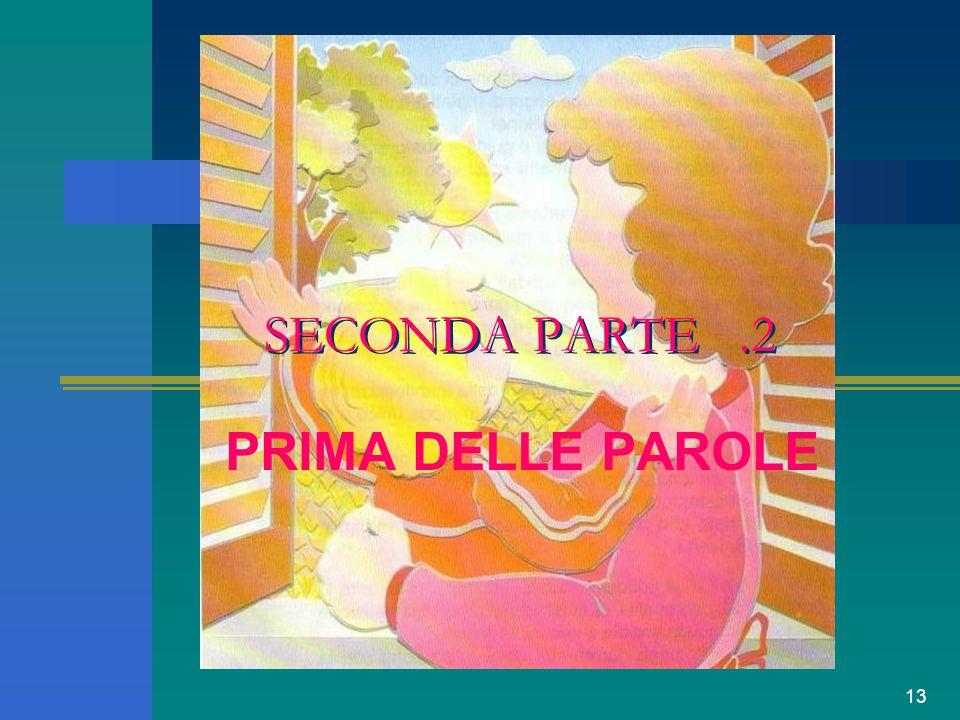 SECONDA PARTE .2 PRIMA DELLE PAROLE