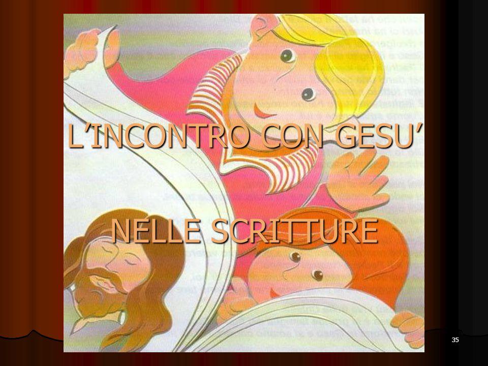 L'INCONTRO CON GESU' NELLE SCRITTURE