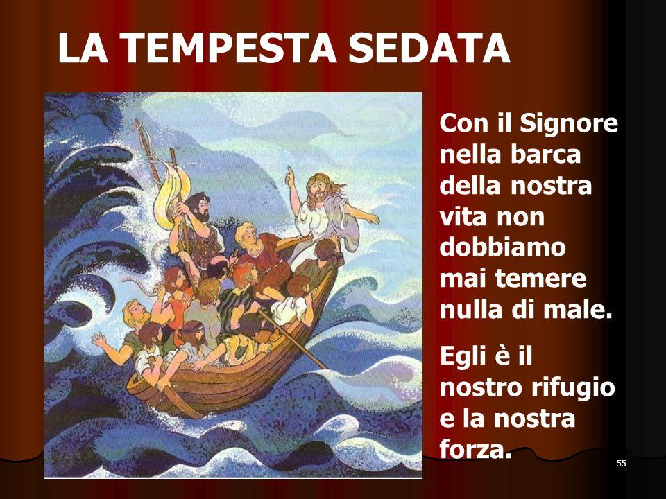 LA TEMPESTA SEDATA Con il Signore nella barca della nostra vita non dobbiamo mai temere nulla di male.
