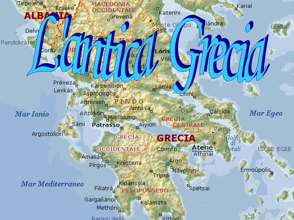 L 39 antica grecia ppt video online scaricare for Cartina della grecia antica da stampare