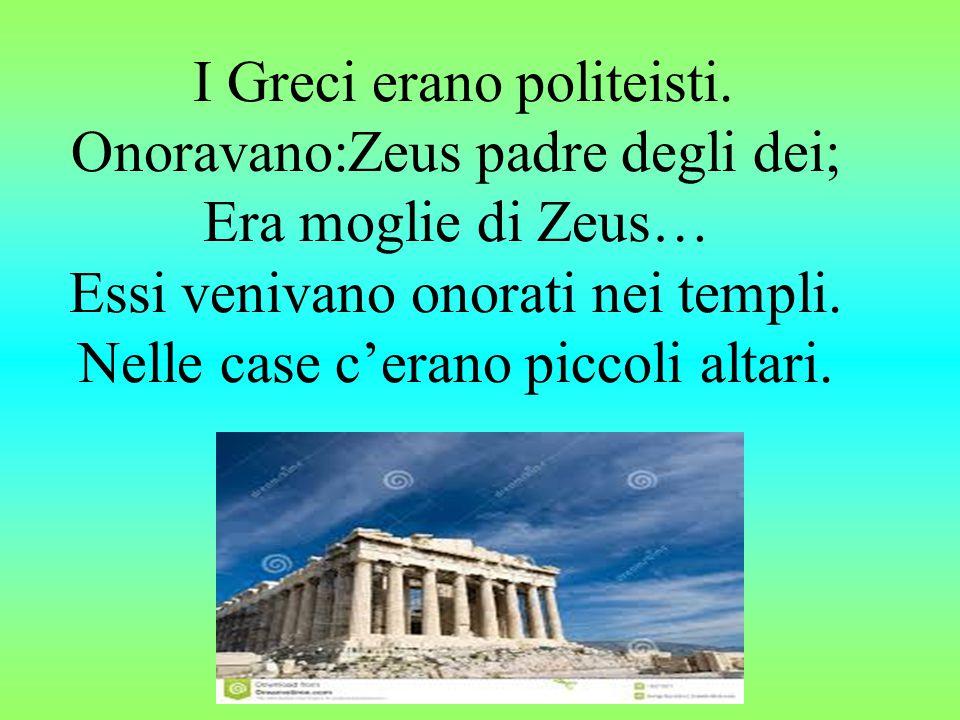 I Greci erano politeisti