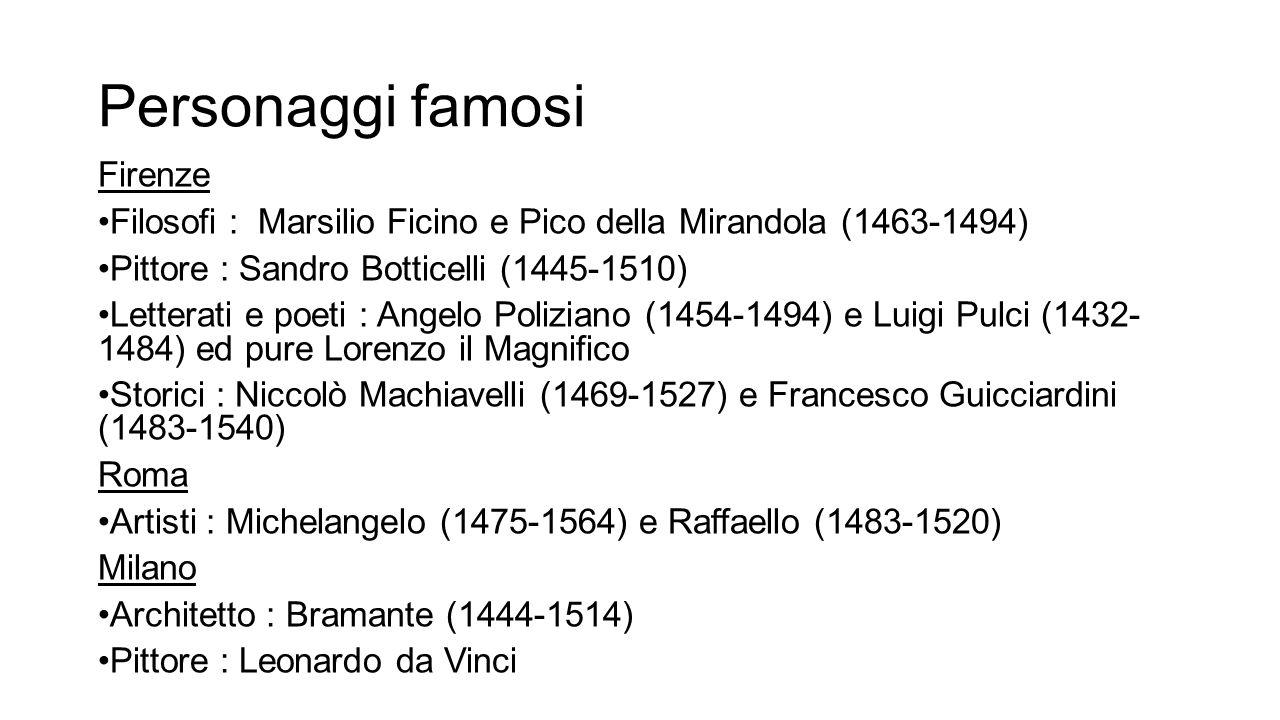 Personaggi famosi Firenze