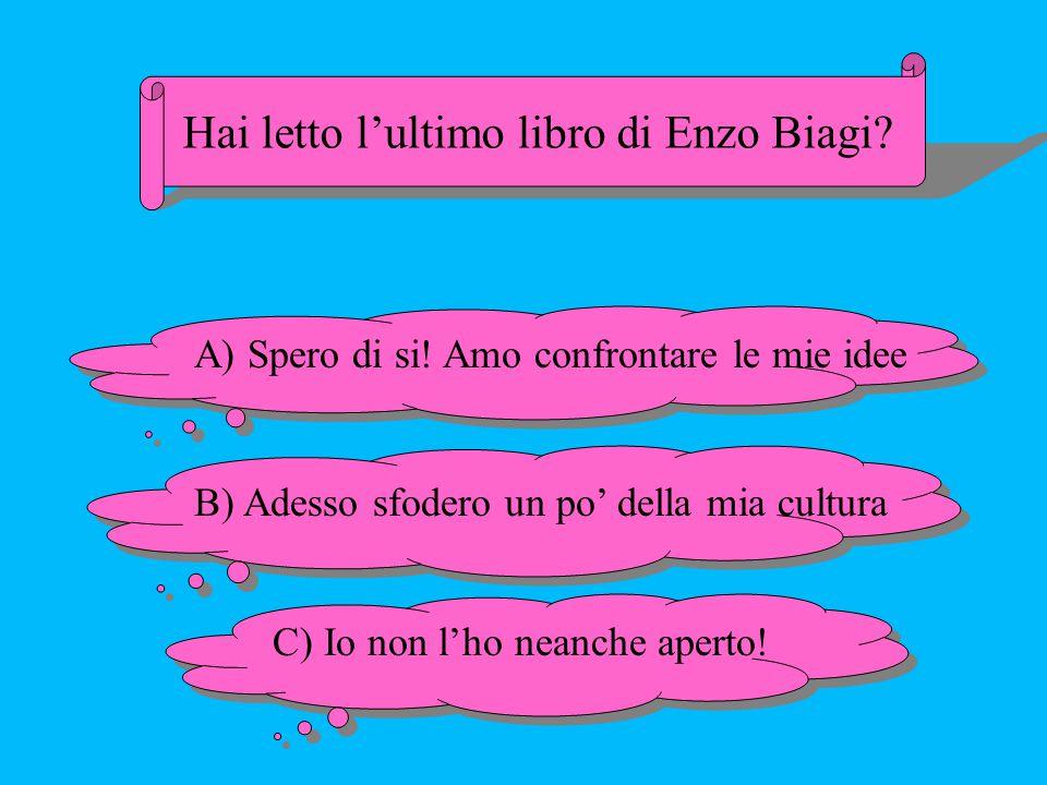 Hai letto l'ultimo libro di Enzo Biagi