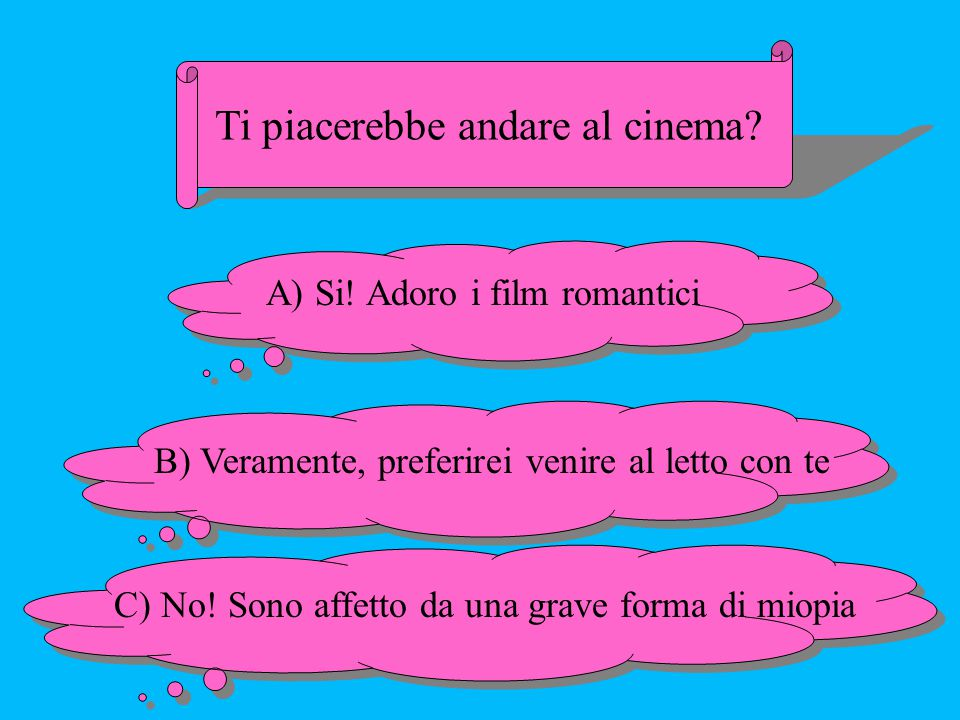 Ti piacerebbe andare al cinema