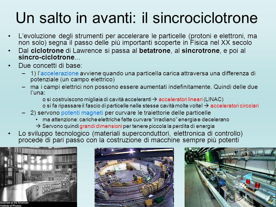 Un salto in avanti: il sincrociclotrone