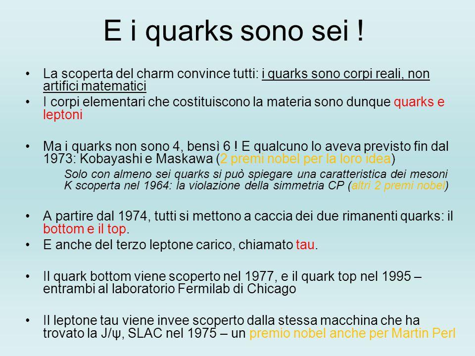 E i quarks sono sei ! La scoperta del charm convince tutti: i quarks sono corpi reali, non artifici matematici.