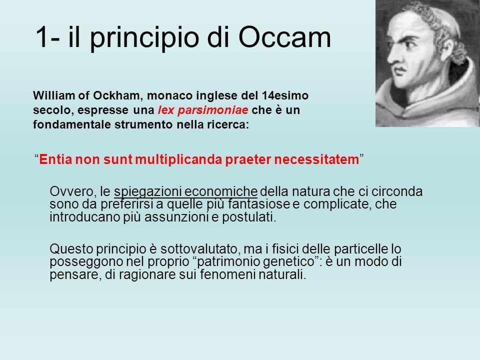 1- il principio di Occam