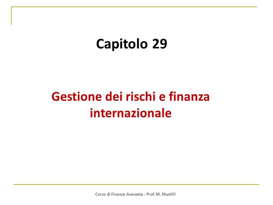 Gestione dei rischi e finanza internazionale