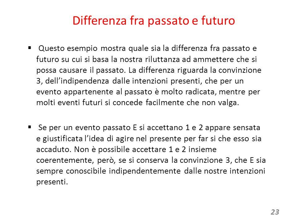 Differenza fra passato e futuro