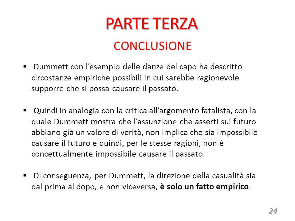PARTE TERZA CONCLUSIONE