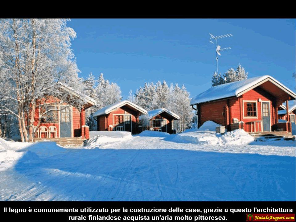Il legno è comunemente utilizzato per la costruzione delle case, grazie a questo l architettura rurale finlandese acquista un aria molto pittoresca.