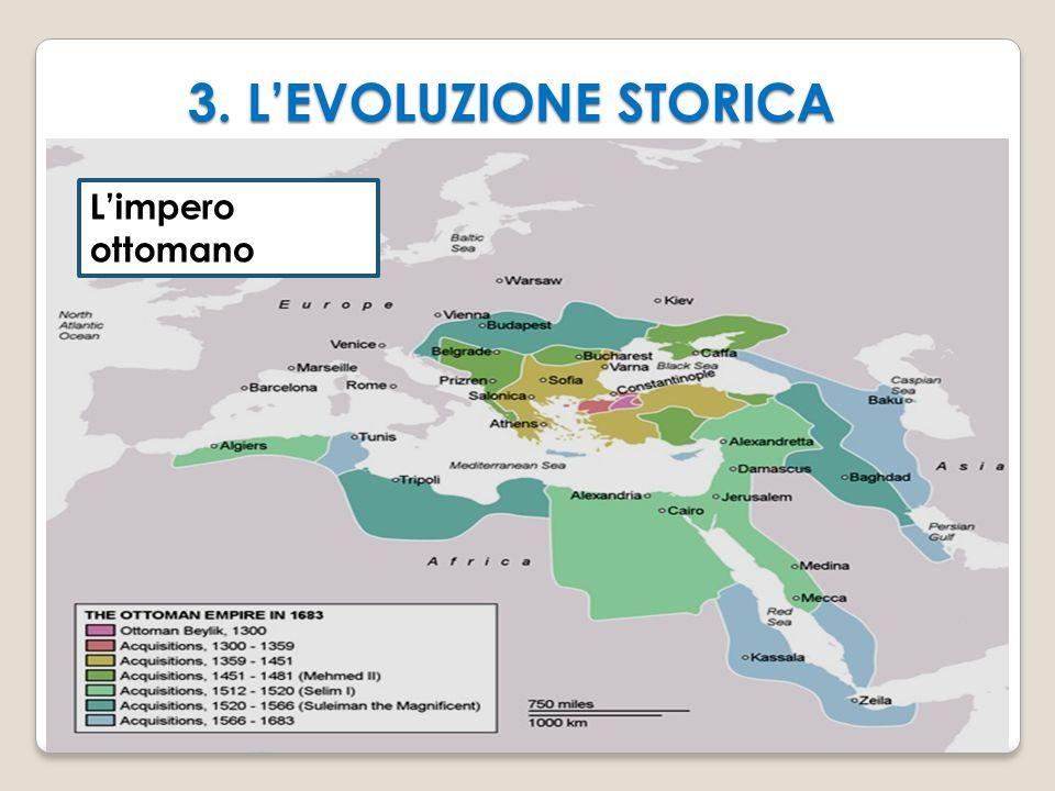 3. L'EVOLUZIONE STORICA L'impero ottomano