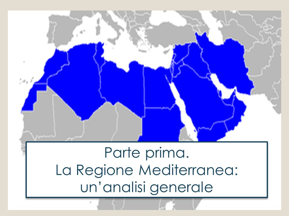 La Regione Mediterranea: un'analisi generale