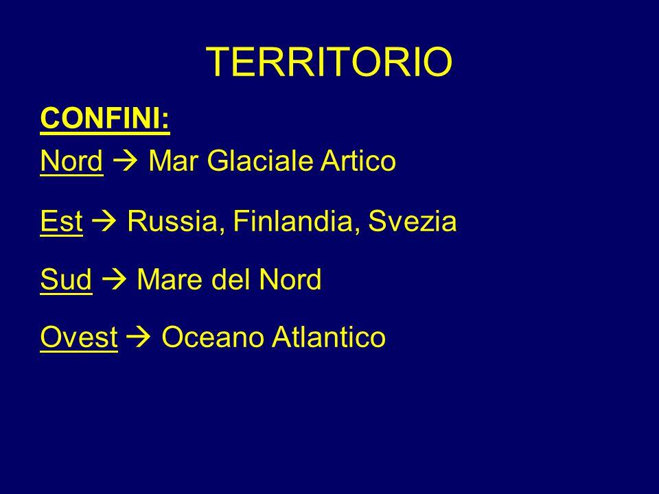 TERRITORIO CONFINI: Nord  Mar Glaciale Artico