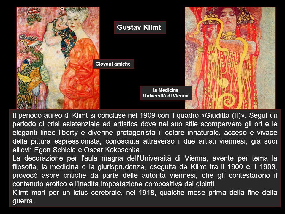 Gustav Klimt Giovani amiche. la Medicina. Università di Vienna.