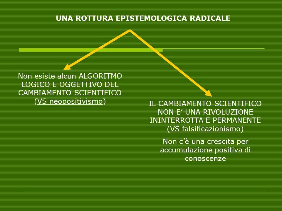 UNA ROTTURA EPISTEMOLOGICA RADICALE