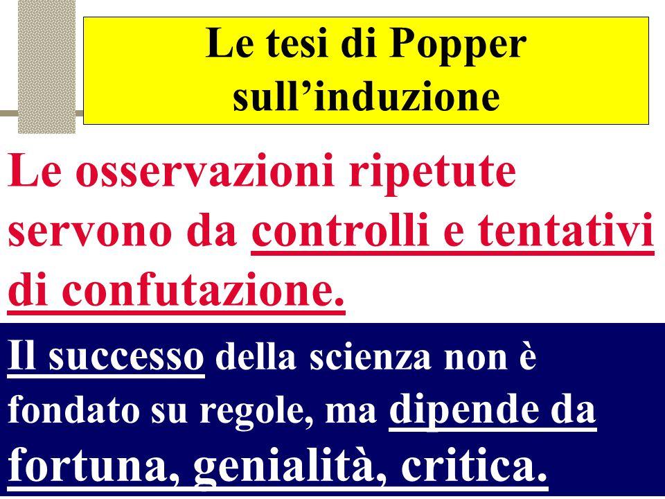 Le tesi di Popper sull'induzione