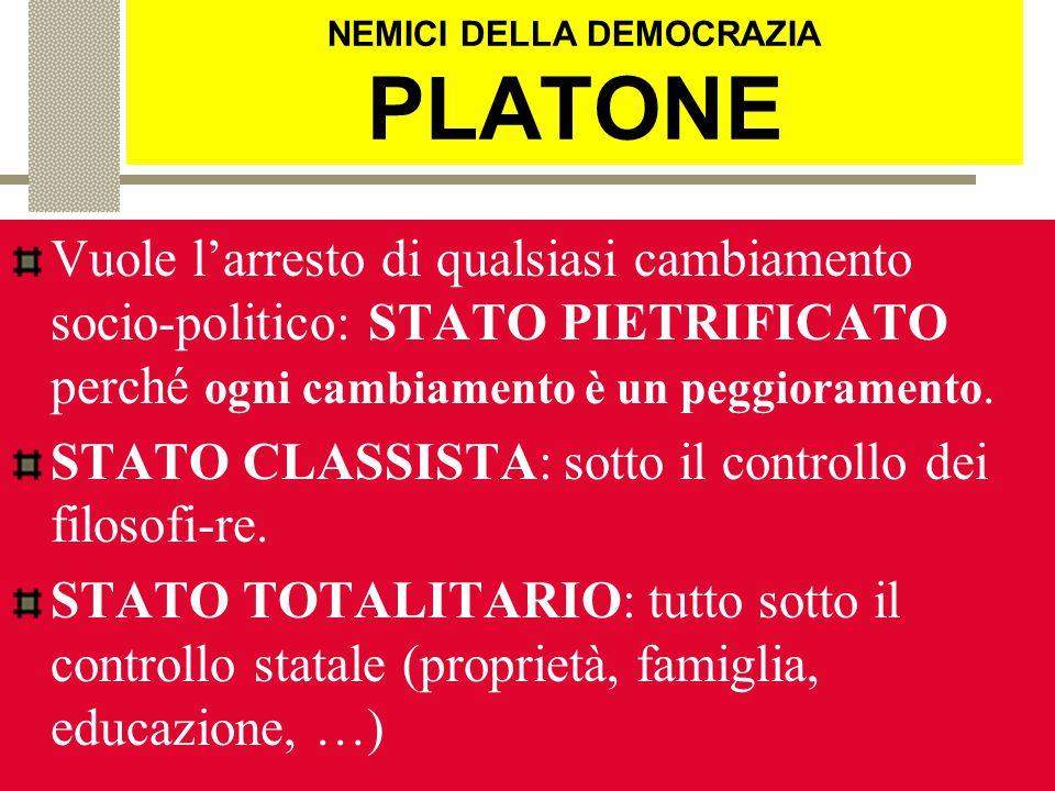 NEMICI DELLA DEMOCRAZIA PLATONE