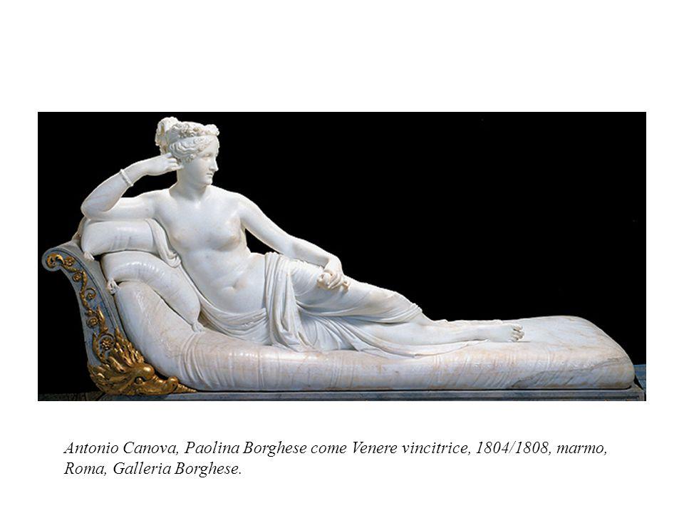 Antonio Canova, Paolina Borghese come Venere vincitrice, 1804/1808, marmo, Roma, Galleria Borghese.