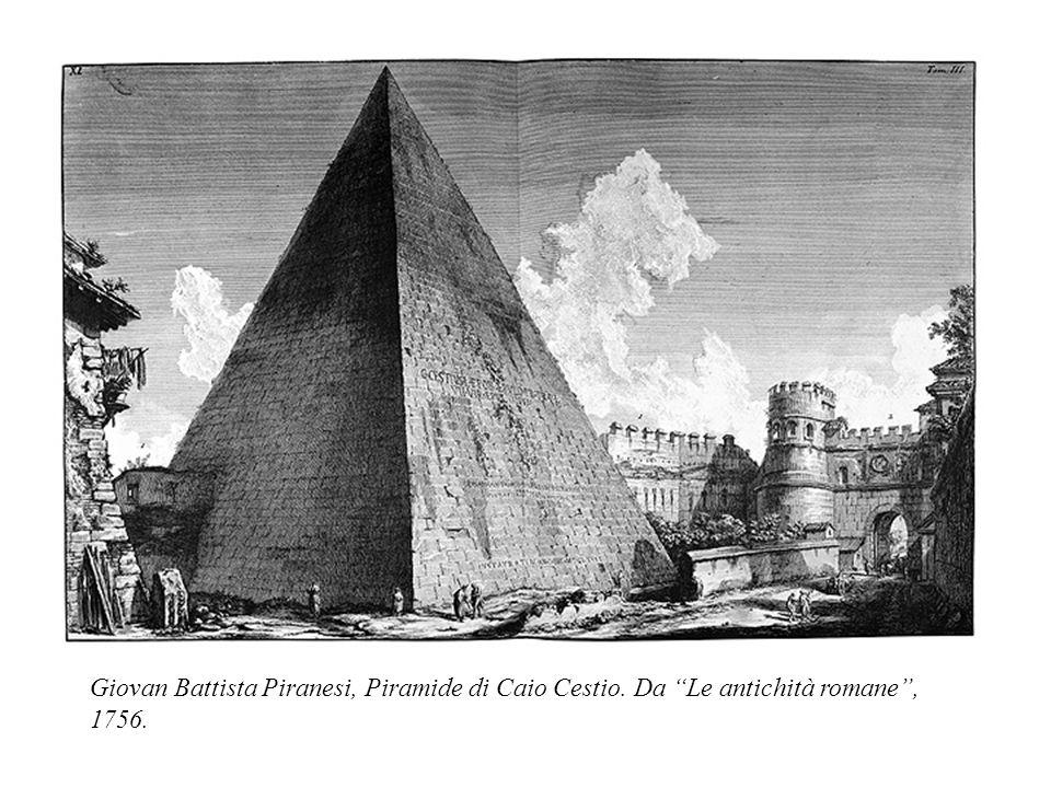 Giovan Battista Piranesi, Piramide di Caio Cestio