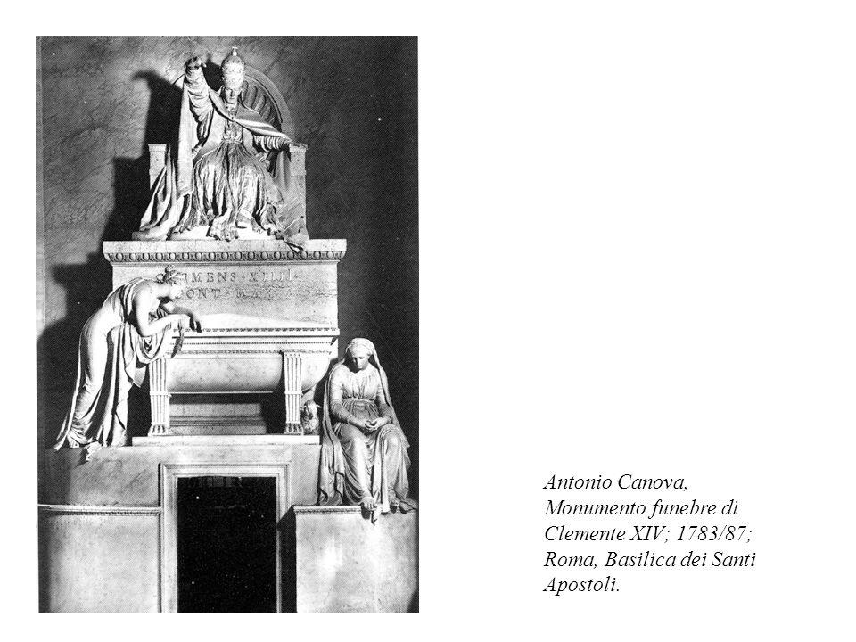 Antonio Canova, Monumento funebre di Clemente XIV; 1783/87; Roma, Basilica dei Santi Apostoli.