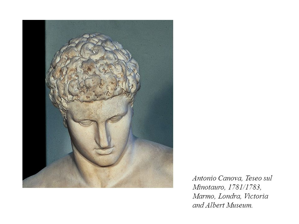 Antonio Canova, Teseo sul Minotauro, 1781/1783, Marmo, Londra, Victoria and Albert Museum.