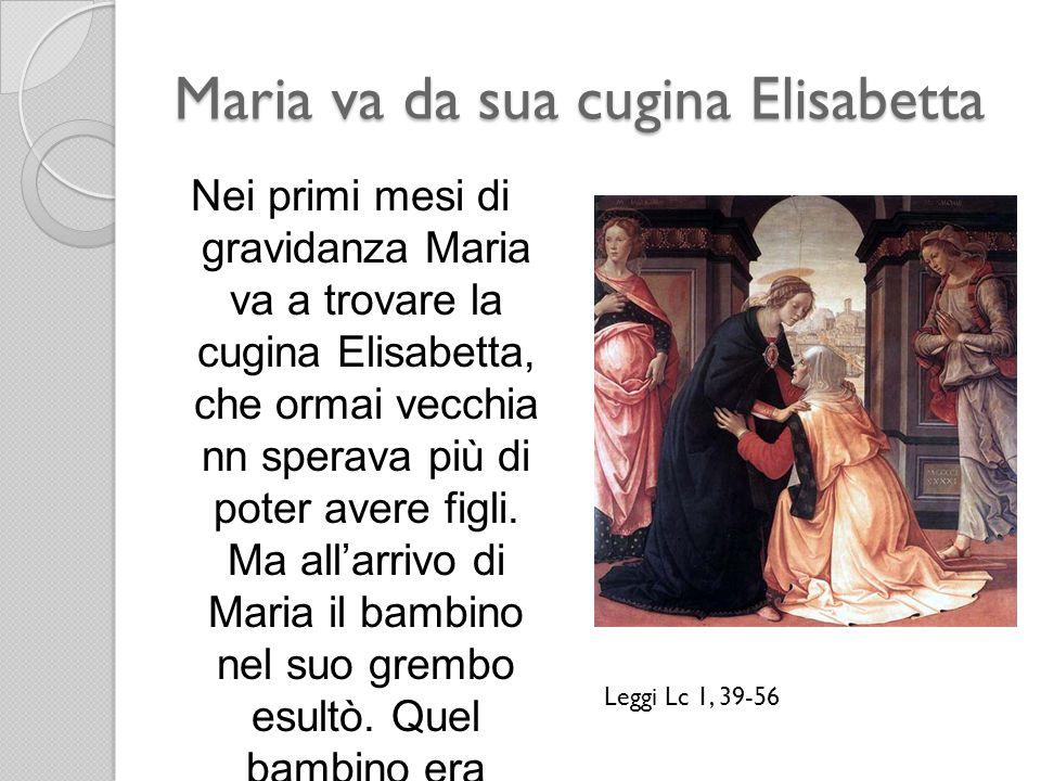 Maria va da sua cugina Elisabetta