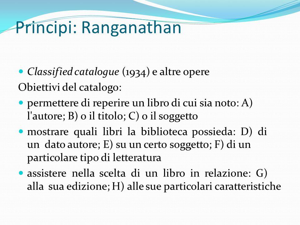 Principi: Ranganathan