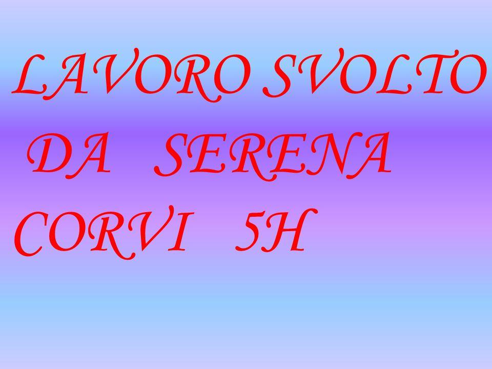 LAVORO SVOLTO DA SERENA CORVI 5H