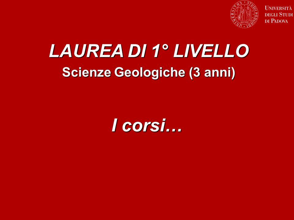 Scienze Geologiche (3 anni)