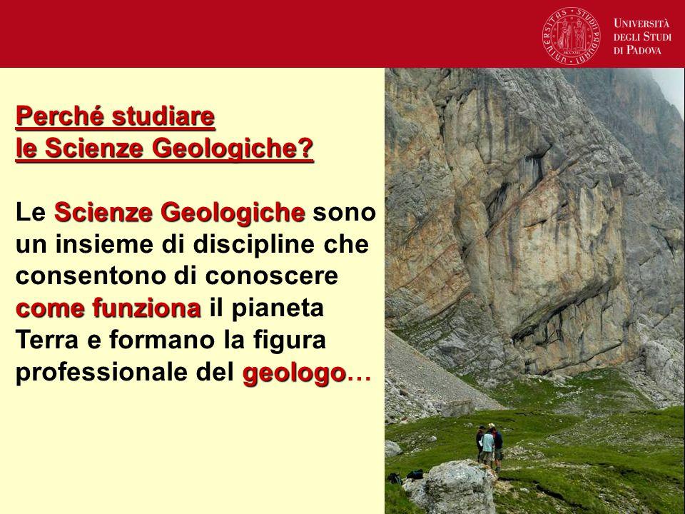 Perché studiare le Scienze Geologiche