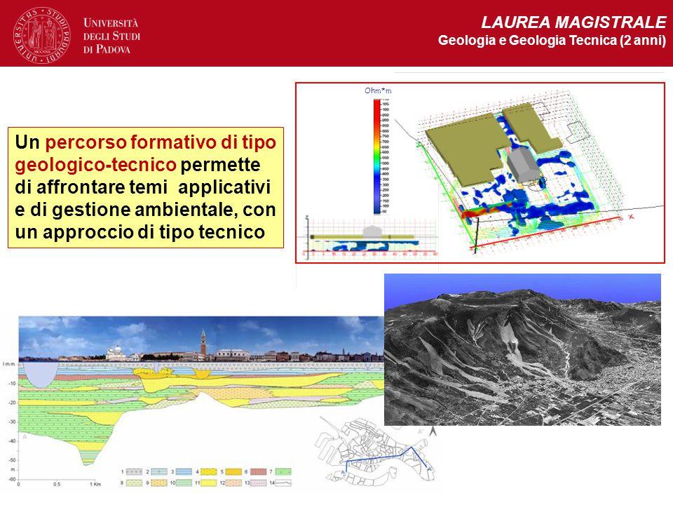 LAUREA MAGISTRALE Geologia e Geologia Tecnica (2 anni) Ohm*m.