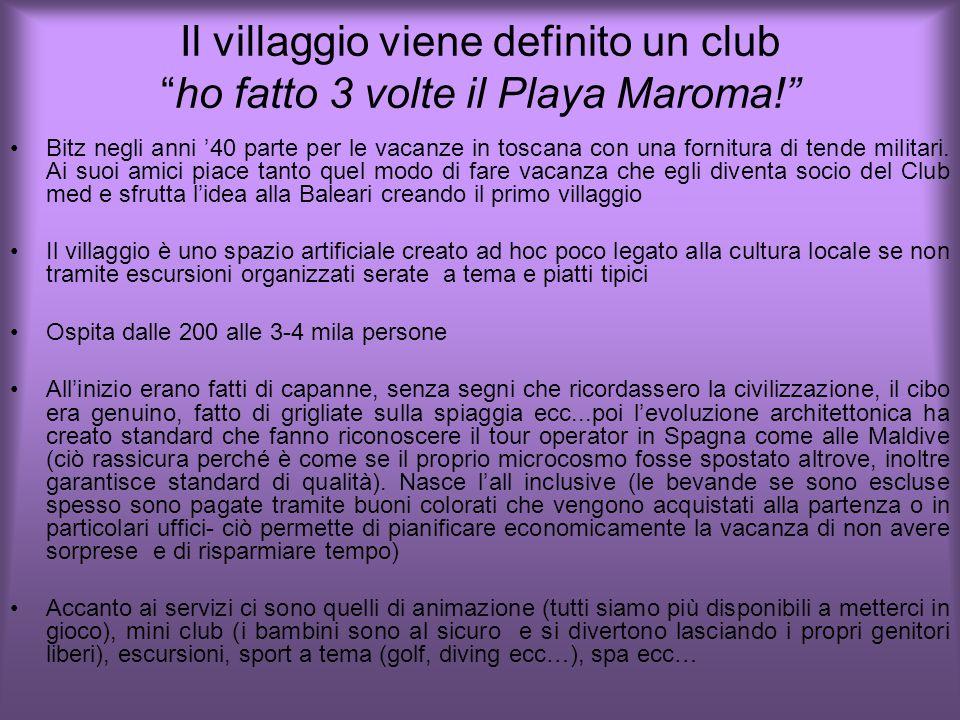 Il villaggio viene definito un club ho fatto 3 volte il Playa Maroma