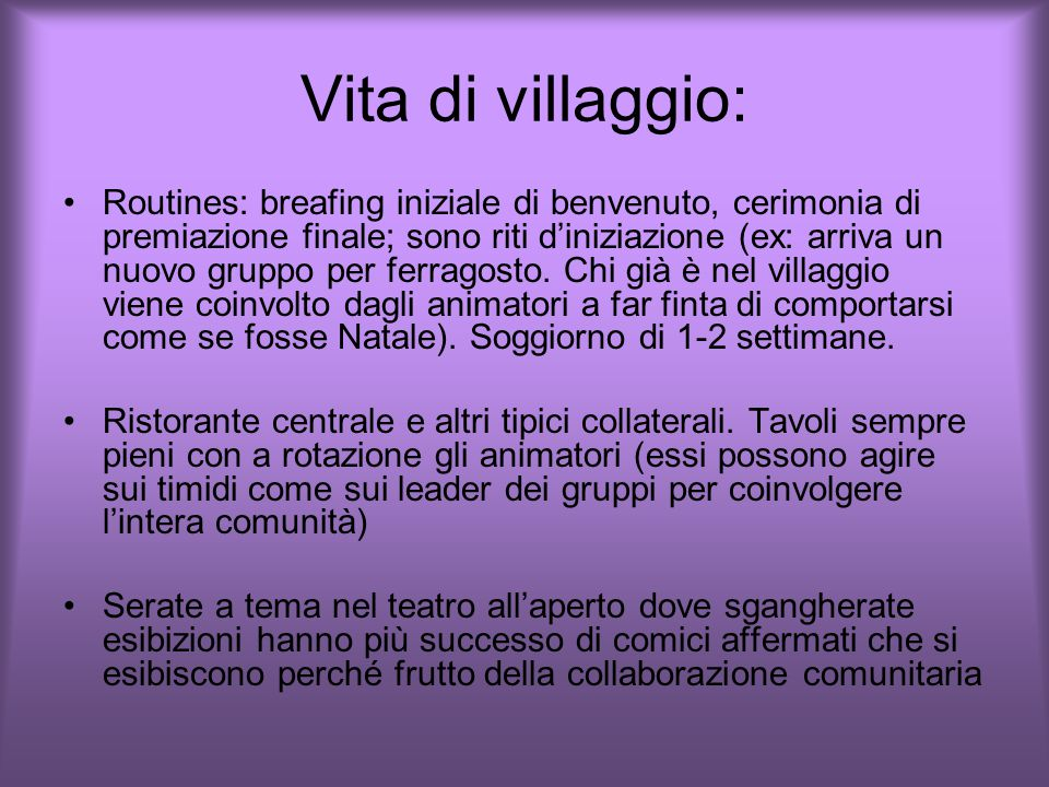 Vita di villaggio: