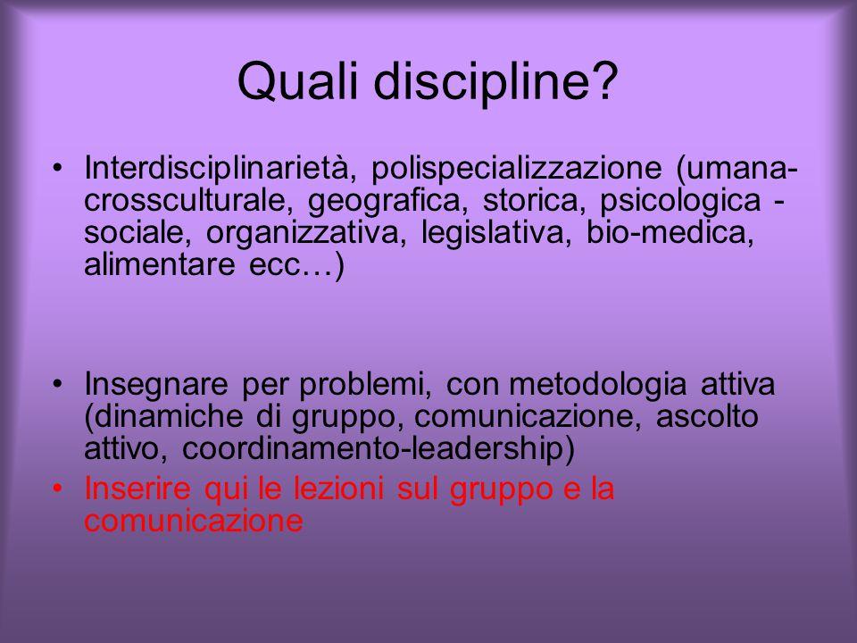 Quali discipline