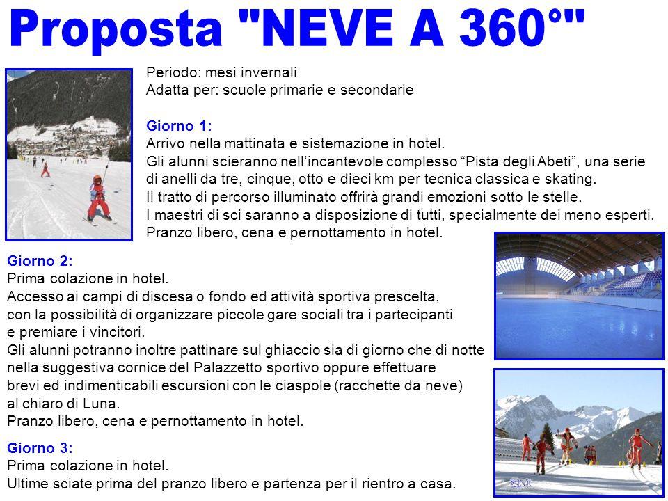 Proposta NEVE A 360° Periodo: mesi invernali