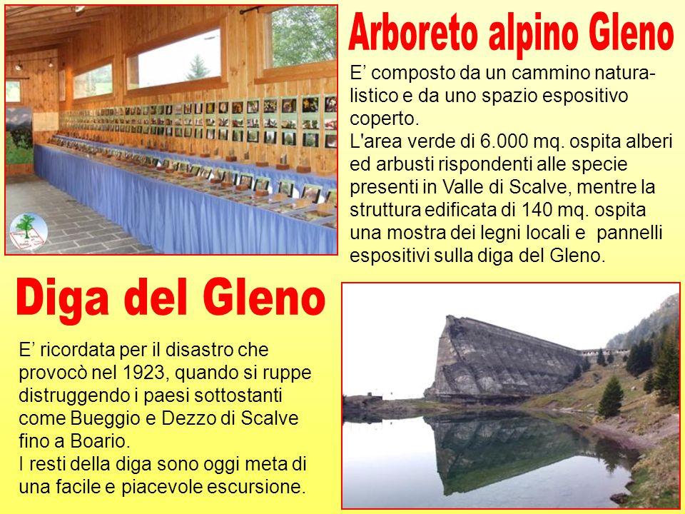 Arboreto alpino Gleno Diga del Gleno E' composto da un cammino natura-