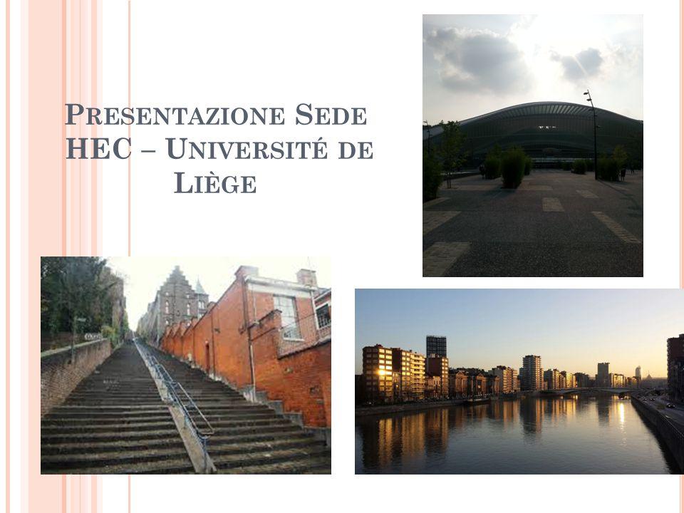 Presentazione Sede HEC – Université de Liège