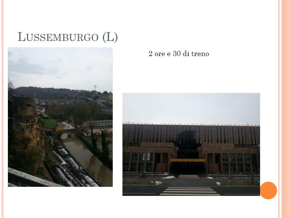 Lussemburgo (L) 2 ore e 30 di treno